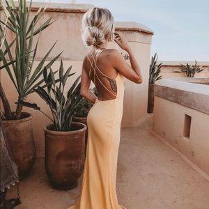 Windsor yellow maxi formal bodycon dress